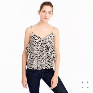 HP💕 J. Crew • Silk ruffle camisole top